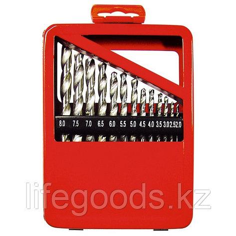 Набор сверл по металлу, 1-10 мм (через 0,5 мм), HSS, 19 шт, металлическая коробка, цилиндрический хвостовик, фото 2