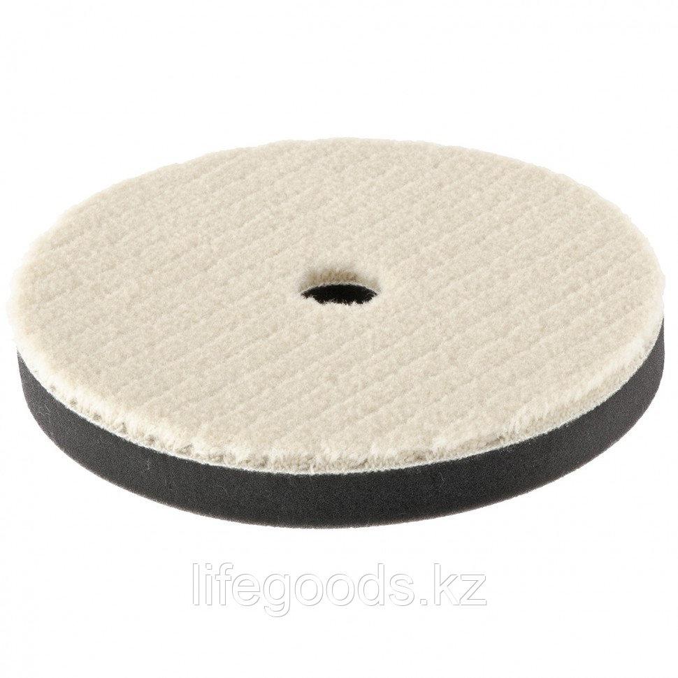 """Насадка полировальная """"под липучку"""", 150 мм, короткая плетеная шерстяная нить Matrix 75963"""