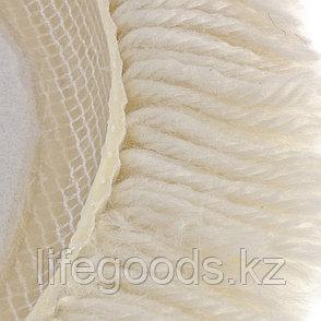 """Насадка полировальная """"под липучку"""", 180 мм, плетеная шерстяная нить Matrix 75958, фото 2"""
