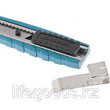 Нож 130 мм, металлический корпус, выдвижное сегментное лезвие 9 мм (SK-5), металлическая направляющая, клипса для ремня Gross, фото 2