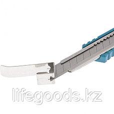 Нож 130 мм, металлический корпус, выдвижное сегментное лезвие 9 мм (SK-5), металлическая направляющая, клипса для ремня Gross, фото 3
