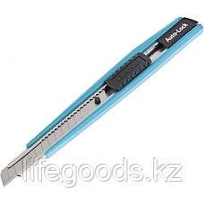 Нож 145 мм, корпус ABS пластик, выдвижное сегментное лезвие 9 мм (SK-5), металлическая направляющая Gross, фото 2