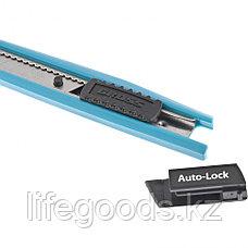 Нож 145 мм, корпус ABS пластик, выдвижное сегментное лезвие 9 мм (SK-5), металлическая направляющая Gross, фото 3