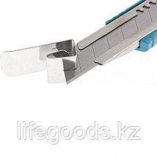 Нож 160 мм, металлический корпус, выдвижное сегментное лезвие 18 мм (SK-5), металлическая направляющая, клипса, фото 2