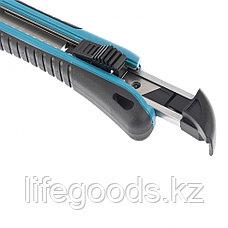 Нож 170 мм, обрезиненный ABS-корпус, выдвижное сегментное лезвие 18 мм (SK-5), металлическая направляющая, 5, фото 3