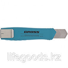 Нож 195 мм, металлический корпус, выдвижное сегментное лезвие 25 мм (SK-5), металлическая направляющая, клипса, фото 3
