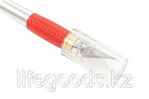Нож для дизайнерских работ, двухкомпонентная рукоятка, 5 запасных лезвий Matrix 78855, фото 2