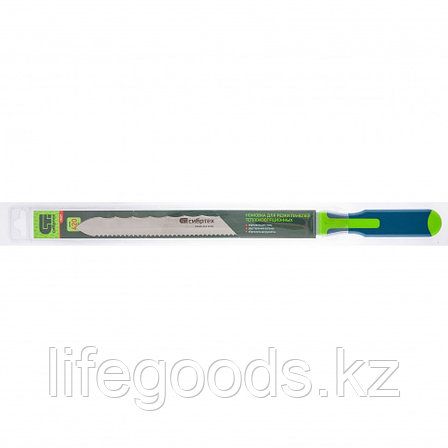 Нож для резки теплоизоляционных панелей, 2-стороннее лезвие, обрезиненная рукоятка, 420 мм, лезвие 280 мм, фото 2