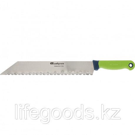 Нож для резки теплоизоляционных панелей, обрезиненная рукоятка, 475 мм, лезвие 340 мм Сибртех 79025, фото 2