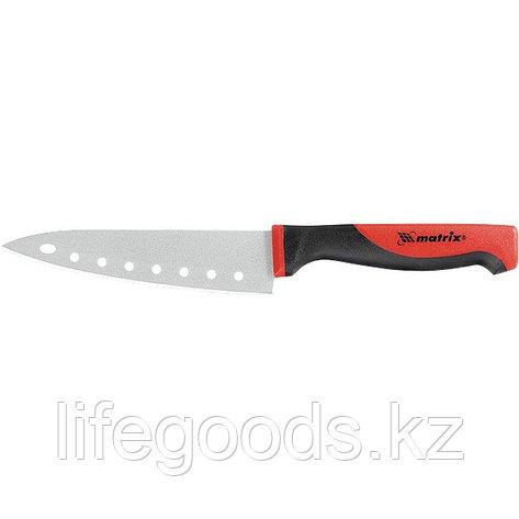 """Нож поварской """"SILVER TEFLON"""" small, 80 мм, тефлоновое покрытиеытие полотна, двухкомпонентная рукоятка Matrix, фото 2"""