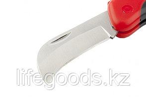 Нож электрика, складной, изогнутое лезвие, эргономичная двухкомпонентная рукоятка Matrix 78986, фото 2