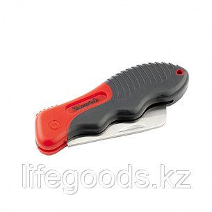 Нож электрика, складной, прямое лезвие, эргономичная двухкомпонентная рукоятка Matrix 78987, фото 2