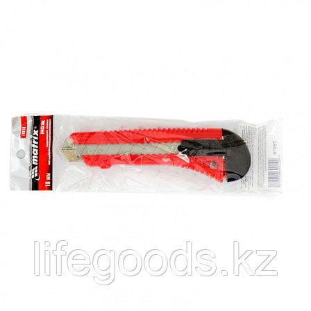 Нож, 18 мм, выдвижное лезвие, металлическая направляющая Matrix 78918, фото 2