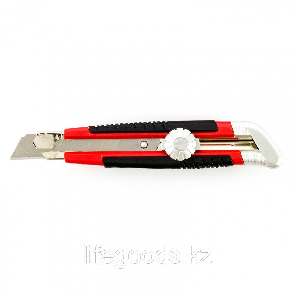 Нож, 18 мм, выдвижное лезвие, металлическая направляющая, винтовой фиксатор лезвия Matrix 78914