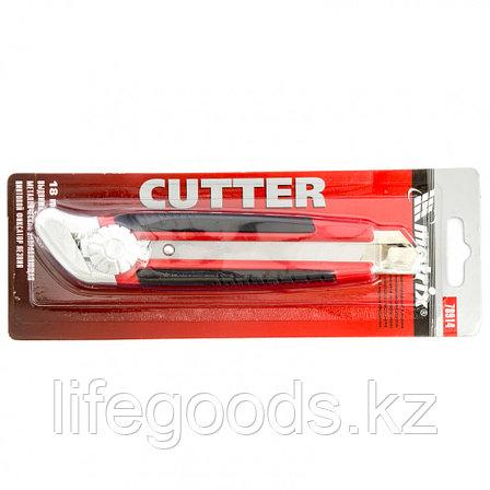 Нож, 18 мм, выдвижное лезвие, металлическая направляющая, винтовой фиксатор лезвия Matrix 78914, фото 2