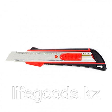 Нож, 18 мм, выдвижное лезвие, металлическая направляющая, эргономичная двухкомпонентная рукоятка MTRIX, фото 2