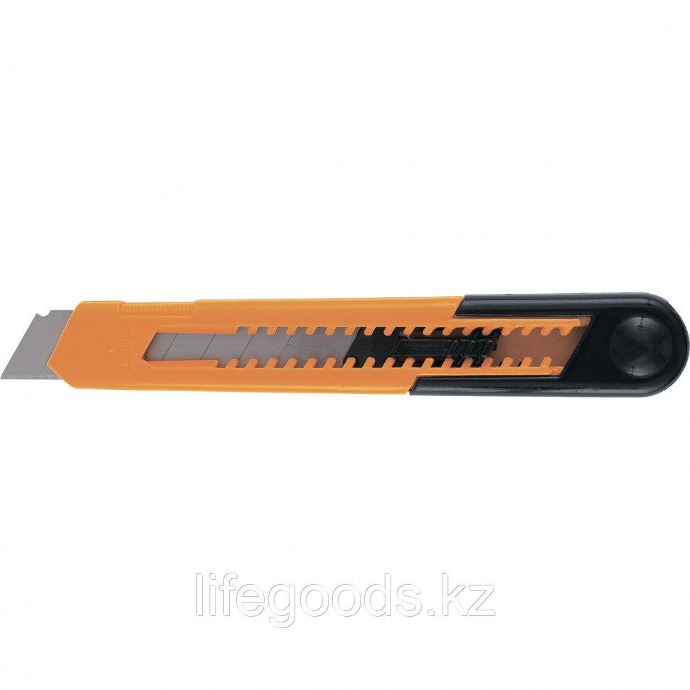 Нож, 18 мм, выдвижное лезвие, пластиковый усиленный корпус Sparta 78907