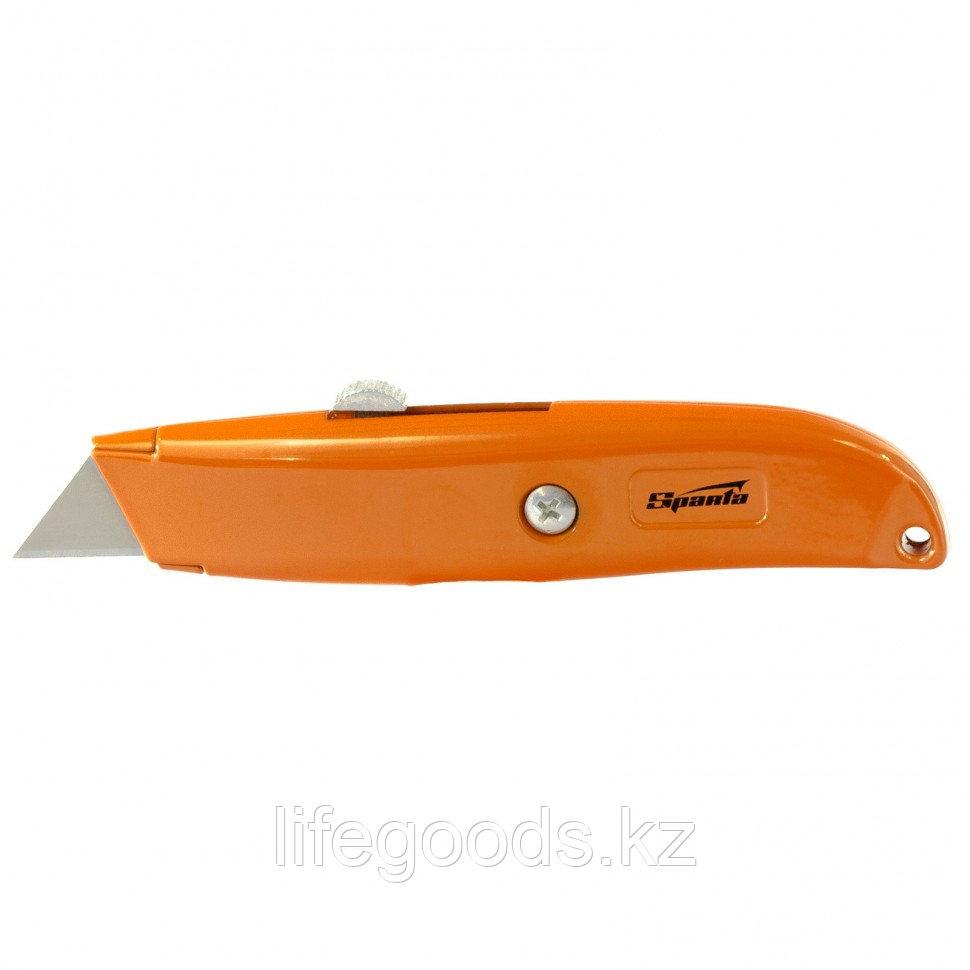 Нож, 19 мм, выдвижное трапециевидное лезвие Sparta 78977
