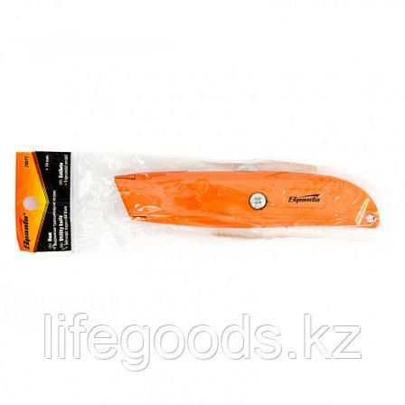 Нож, 19 мм, выдвижное трапециевидное лезвие Sparta 78977, фото 2
