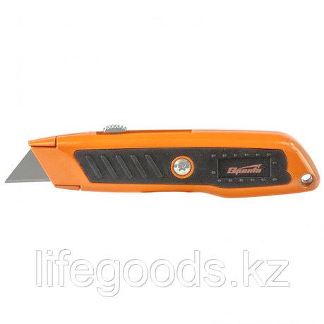 Нож, 19 мм, выдвижное трапециевидное лезвие, двухкомпонентный корпус Sparta 78978, фото 2