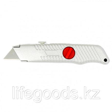 Нож, 19 мм, выдвижное трапециевидное лезвие, металлический корпус Matrix 78964, фото 2