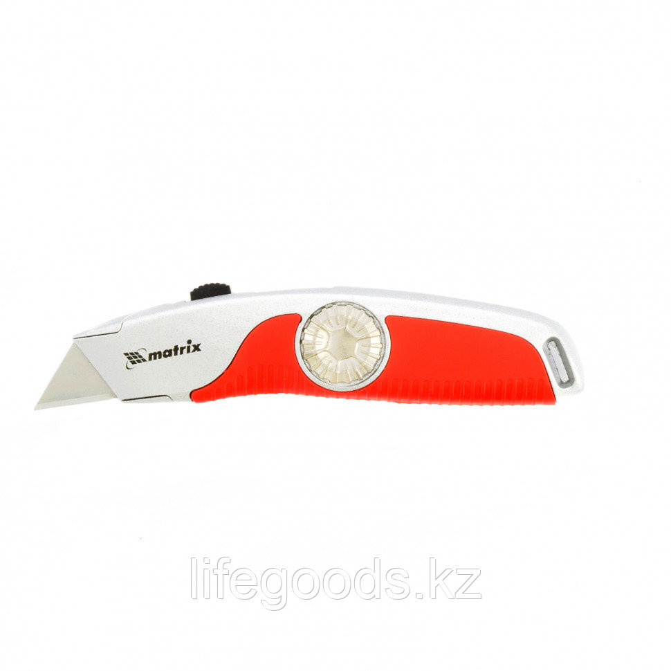 Нож, 19 мм, выдвижное трапециевидное лезвие, эргономичная двухкомпонентная рукоятка Matrix 78926
