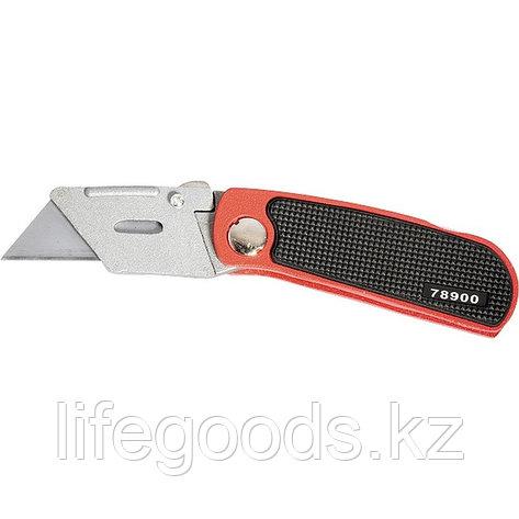 Нож, 19 мм, складной, сменное трапециевидное лезвие, 5 запасны лезвий Matrix, фото 2