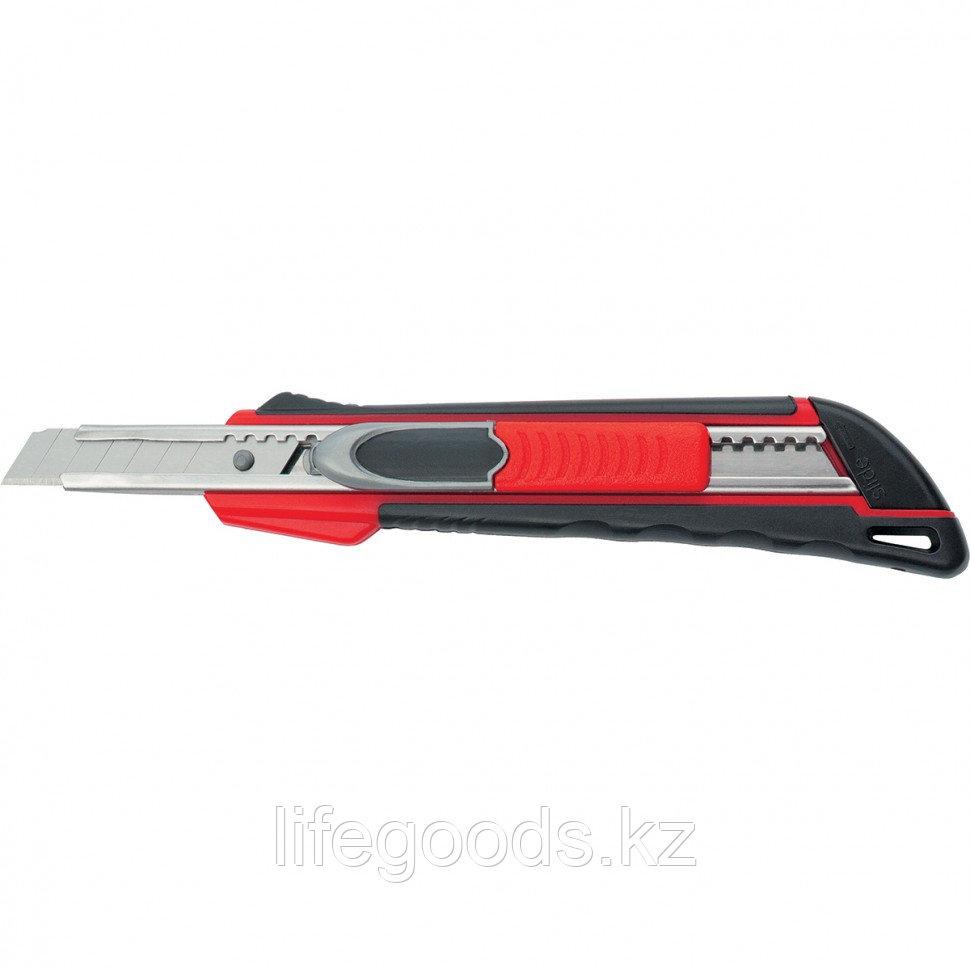"""Нож, 9 мм, выдвижное лезвие """"Quick Blade"""" металлическая направляющая, двойная фиксация, эргономичная"""
