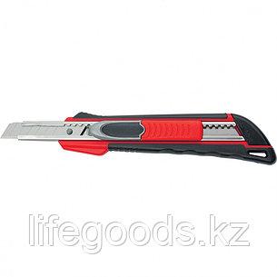 """Нож, 9 мм, выдвижное лезвие """"Quick Blade"""" металлическая направляющая, двойная фиксация, эргономичная, фото 2"""