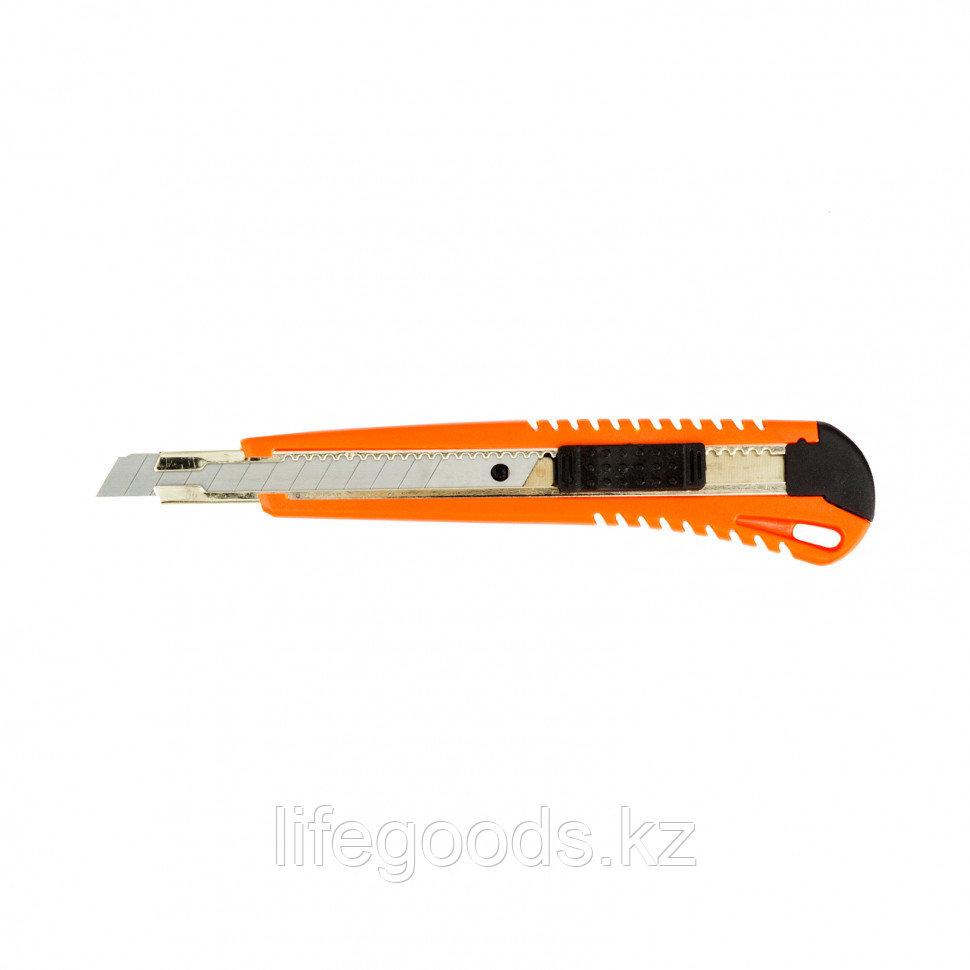 Нож, 9 мм, выдвижное лезвие, металлическая направляющая Sparta
