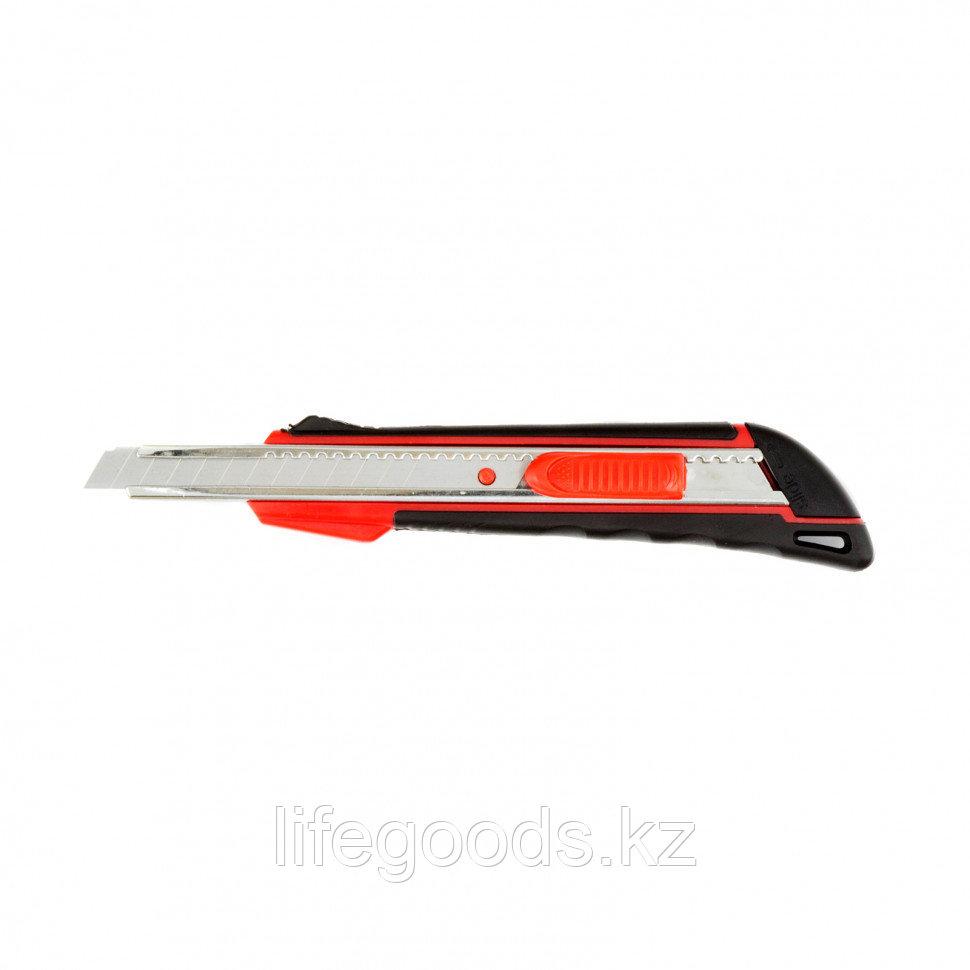 Нож, 9 мм, выдвижное лезвие, металлическая направляющая, эргономичная двухкомпонентная рукоятка Matrix 78932
