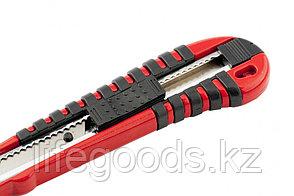 Нож, 9 мм, выдвижное лезвие, металлическая направляющая, эргономичная двухкомпонентная рукоятка Matrix 78937, фото 2