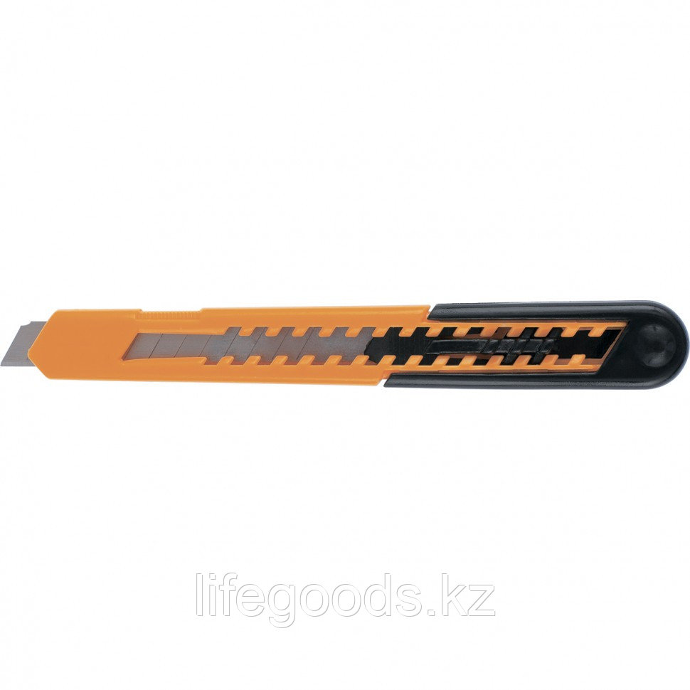 Нож, 9 мм, выдвижное лезвие, пластиковый усиленный корпус Sparta 78906