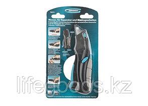 Нож, ремонтно-монтажный, трехкомпонентная рукоятка, авто выброс, возврат лезвия, пистолетного типа, 170 мм, 5, фото 2