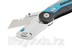 Нож, ремонтно-монтажныйный, складной, трехкомпонентная рукоятка, контейнер-держатель для лезвий, 175 мм, 2 заточенных лезвия Gross, фото 3
