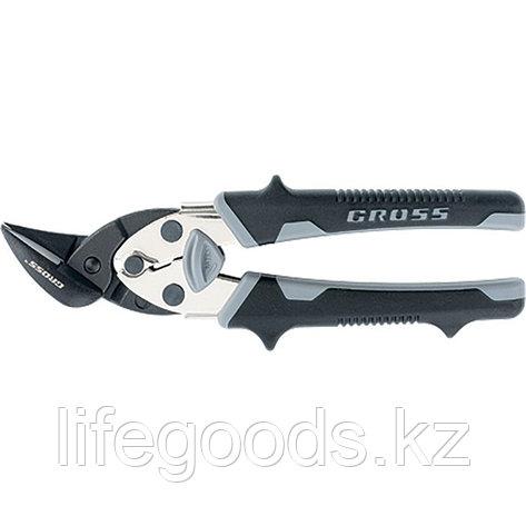 """Ножницы по металлу """"Piranha"""", 185 мм, прямой и левый рез, сталь-СrM, двухкомпонентные рукоятки Gross 78359, фото 2"""