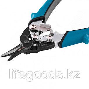 """Ножницы по металлу """"Piranha"""", 190 мм, прямой рез, сталь-СrM, двухкомпонентные рукоятки Gross 78357, фото 2"""