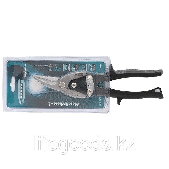 """Ножницы по металлу """"Piranha"""", 250 мм, прямой и левый рез, сталь СrMo, двухкомпонентные рукоятки Gross 78321"""