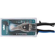 """Ножницы по металлу """"Piranha"""", 250 мм, прямой и правый рез, сталь СrMo, двухкомпонентные рукоятки Gross 78323"""