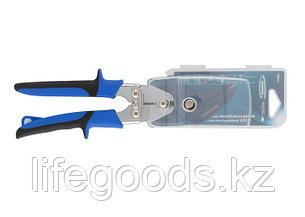 """Ножницы по металлу """"Piranha"""", усиленные, 255 мм, прямой и правый рез, сталь СrMo, двухкомпонентные рукоятки, фото 2"""