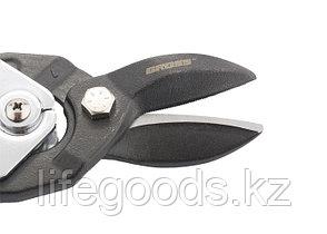 """Ножницы по металлу""""Piranha""""усиленные, 255 мм, прямой рез, сталь СrMo, двухкомпонентные рукоятки Gross 78347, фото 3"""