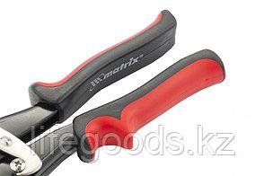 Ножницы по металлу, 250 мм, пряморежущие, для тонкого металла, обрезиненные рукоятки Matrix, фото 2