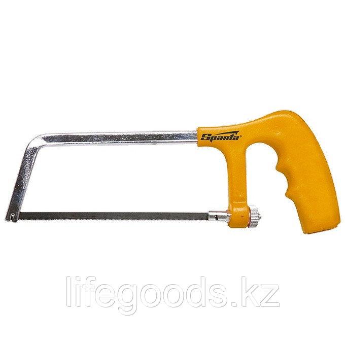 Ножовка по металлу, 150 мм, пластмассовая ручка, хромированная Sparta 775225