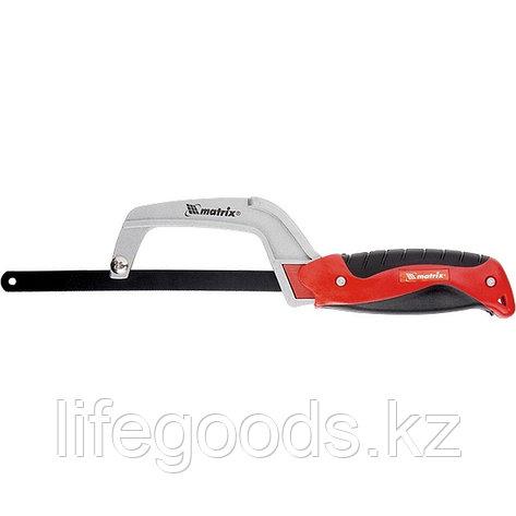 Ножовка по металлу, 250 мм, обрезиненная рукоятка Matrix, фото 2