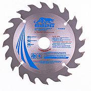 Пильный диск по дереву 140 x 20/16 мм, 20 твердосплавных зубъев Барс 73353