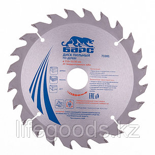 Пильный диск по дереву 216 x 32/30 мм, 24 твердосплавных зуба Барс 73381, фото 2