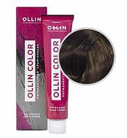 Перманентная крем краска для волос, 5,0 светлый шатен,60 мл, Ollin Color