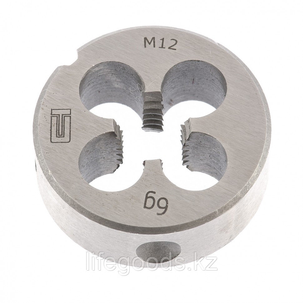 Плашка М12 х 1,75 мм Сибртех 77032