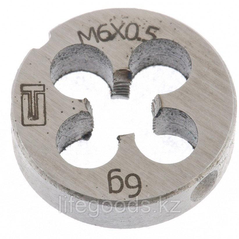 Плашка М6 х 0,5 мм Сибртех 77015