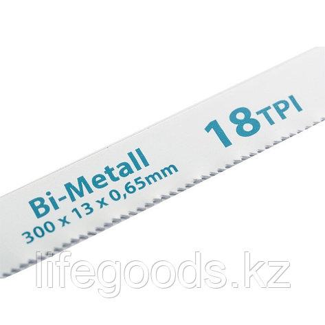 Полотна для ножовки по металлу, 300 мм, 18 TPI, BIM, 2 шт Gross 77730, фото 2